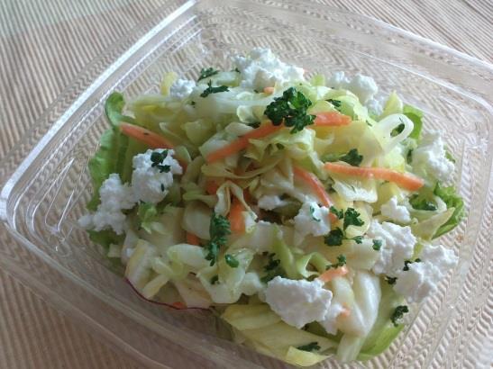 4月 免疫サラダ(塩麹コールスロー カッテージチーズ添え)